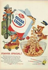 Cereal Post Sugar Crisp Early Bear 1950s paper ad 10¼ x 14 inch T-Trove