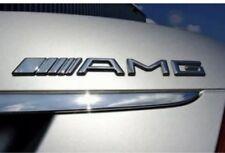 19cm AMG Silber Schriftzug Emblem Typenschild Mercedes Benz CLK SLK SL CLS ML E
