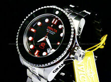 Invicta 47mm Grand Diver Gen II Auto 3D Case Black Dial Red Accent Braclet Watch