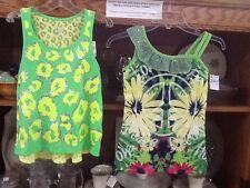 NWT! Lot of 2!!!! JUSTICE Girl's Size 10 Lime Green Sparkle Blouses Peace