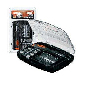 Set cacciavite cricchetto bit vite inserti per viti chiavi Black & e Decker kit