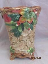 """Fitz & Floyd China Christmas Lodge 10"""" Vase"""