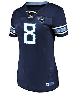 Women's Majestic NFLTennessee Titans # 8 Marcus Mariota V-Neck Jersey Shirt NWT