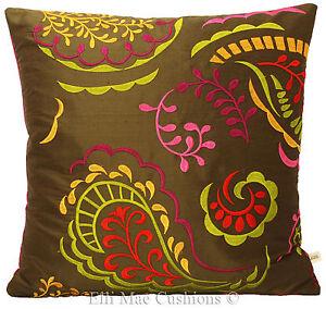 Luxury Designer Pink Silk Cushion Cover