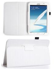 Blanco Simil Piel Funda Stand Soporte Samsung Galaxy Note Tablet 8.0 N5100