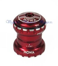 "NEW MOWA BHS 1-1/8"" TRADITIONAL THREADLESS HEADSET MTB ROAD, RED"