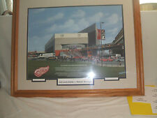 Red Wings Joe Louis Arena 1997 Stanley Cup Champion Lithograph Framed & Matted