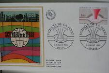 ENVELOPPE PREMIER JOUR SOIE 1980 SCIENCES DE LA TERRE