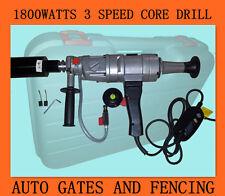 1800 WATT 2 Speed Diamond Core Drill Machine - Pool Fence Installing Machine