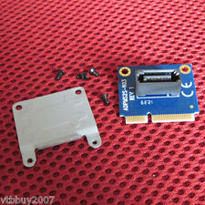 PC mSATA Mini PCI-e SATA SSD To 7p SATA HDD Convert Card + half to full bracket