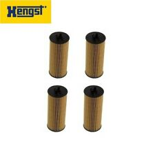 For Mercedes CLS63 G63 ML63 S63 E63 Set of 4 Engine Oil Filters Hengst E155HD122