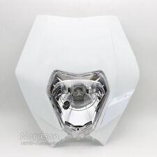Motorcycle Dirt Bike Motocross Supermoto Universal Headlight Fairing EXC White