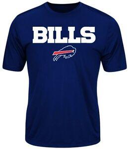 Buffalo Bills NFL Mens Majestic Birdseye Crew Neck Shirt Big & Tall Sizes
