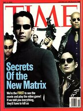 "KEANU REEVES, CARRIE ANN-MOSS Time Magazine ""THE MATRIX RELOADED"" NL 2003"