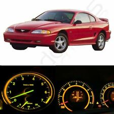 LED Kit Instrument Cluster Gauge Yellow Lights Bulbs for Ford Mustang 1994-1998