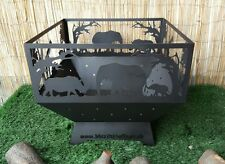 African Safari Themed Fire Pit Firepit Log Burner
