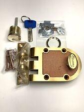 Maxtech Deadbolt W/ Yardeni High Security Multi-lock Cylinder Incl. 2 Keys Brass