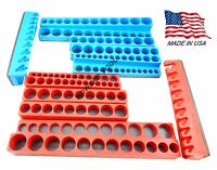 Mechanics Time Saver 12pc 1/4 3/8 1/2 in Drive Magnetic Socket Tray Holder MTS