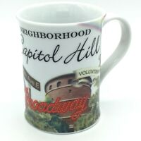 Rosanna CAPITOL HILL My Neighborhood Coffee Mug Pill Hill Volunteer Park Bicycle