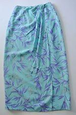 Multicolor Floral PETITE SOPHISTICATE Silk Mid-Calf Wrap-Around Skirt, Sz 2