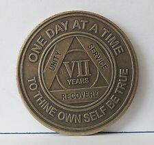 Alcoholic 7 Year Recovery -One Day Chip-Medallion Coin Medal Token  AA Anonymous
