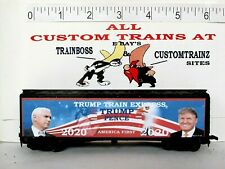 Ho Custom Lettered Trump/Pence-Trump 2020 Express Collectible Reefer Lot C