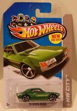 2013 Hot Wheels HW City '70 Toyota Celica Green 1970 JDM NEW MODELS Quantity