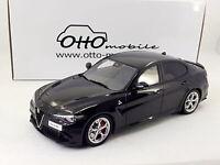 OTTO 1:18 scale Alfa Romeo Giulia Quadrifoglio Black(OT793 / LE999 / Ottomobile)