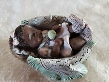 "Sarah'S Attic Baby Girl in Basket w/Blanket Rattle ""Precious Dreams"" Numbered"
