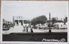 Manzanillo, Granma, Cuba 1930s Realphoto Postcard: 'Parque Bertot'