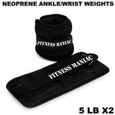 10lbs Neoprene Ankle Weight Black Adjustable Straps Resistant Leg Exercise Wrist