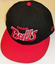Chicago Bulls (Custom Script Logo) New Era Fitted hat sz 7 3 8 22790f62ed3e