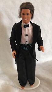 Vintage 1968 Mattel Barbie Ken Doll Groom Weeding Rooted Hair Blue Eyes Tuxedo