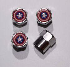 Captain America Tire Air Valve Stem Caps Cover Wheel Set of 4 Free Shipping