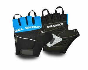 Mens Blue Mountain Bike Gel Padded Breathable Stretchable Gloves UK P+P