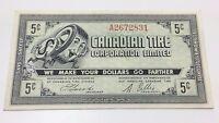 1962 Canadian Tire Five 5 Cents CTC-7-A Money Bonus Banknote D018