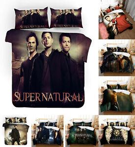 SPN Supernatural 3PCS Bedding Set Quilt Duvet Cover Pillowcase Comforter Cover