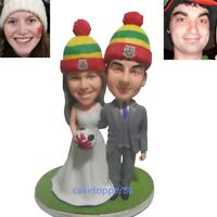 Handmade custom clay figurines Personalized  wedding cake topper from your photo