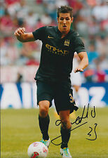 Stevan JOVETIC Signed Autograph 12x8 Photo AFTAL COA Manchester City Authentic