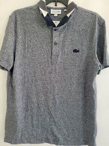 Lacoste Mens Large Blue Men's SPORT Ultra-Dry Regular Tennis Polo Shirt