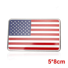 US American Flag 3D Car Sticker Decor United States Badge Emblem Adhesive Alloy
