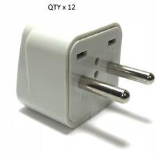 Plug Adapter - 12PK 2 Pin Asian Euro Plug Adapter w/Universal Output Socket