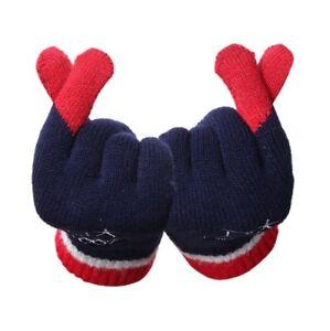2018 Korea Pyeongchang Olympic Games Souvenir Finger Heart Glove S/M/L Size Navy