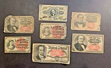 Lot Of 7 Fractional Currency Notes 10, 25 & 50 Cents