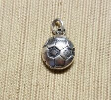 Sterling silver soccer ball charm double sided
