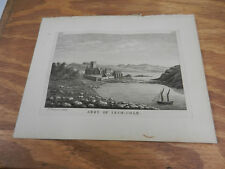 1776 Antique Scotland/Hebrides Print//ABBY OF INCH-COLM, BUILT 13TH CENTURY