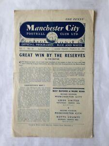 1950/1 MANCHESTER CITY RESERVES V STOKE CITY RESERVES