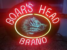 Real Xl Commercial Boars Head Vintage Neon Sign Deli Lighted Advertising 25 x 21