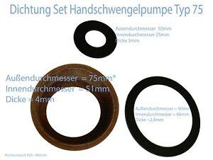 Dichtung Set Schwengelpumpe Typ 75 Handpumpe Schwengelpumpe Ledermanschette