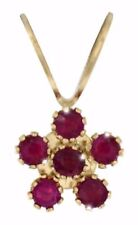 Collares y colgantes de joyería de oro amarillo de rubí